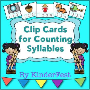 Clip Cards for Counting Syllables