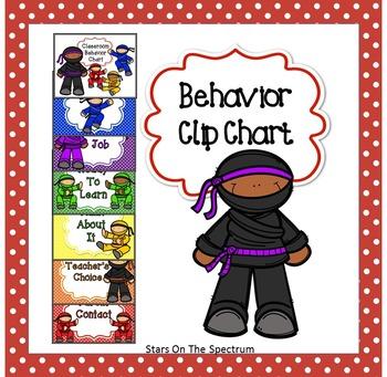 Behavior Chart ★ Ninja Clip Chart