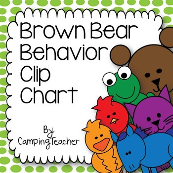 Discipline Clip Chart for Behavior Management Brown Bear B