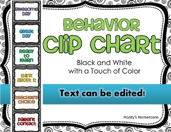 Clip Chart - Black and White with a Touch of Color