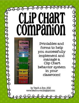 Clip Chart Companion- Management Forms and Reward Printables