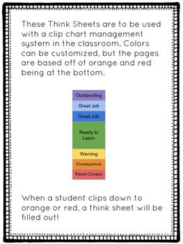 Clip Chart Think Sheets