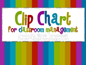 Clip Chart for Behavior Managment