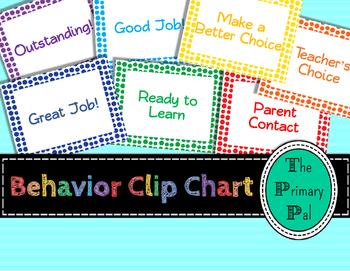 Clip Chart for Classroom Behavior Management