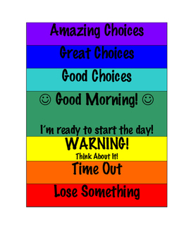 Clip Chart for Kids (at home)
