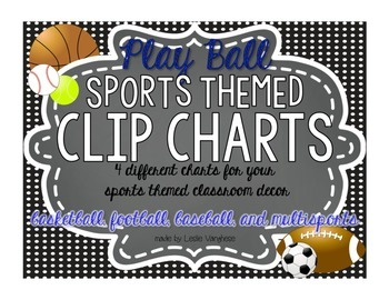 Clip Charts {Sports Themed} & mini clip chart for individu