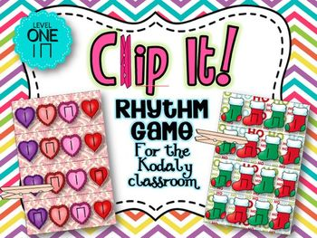 Clip It! A Rhythm Game For The Kodaly Classroom {Level One