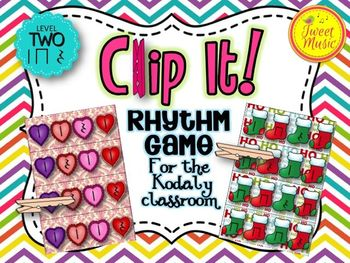 Clip It! A Rhythm Game for the Kodaly Classroom {Level Two