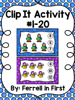 Clip It Activity: Number 1-20