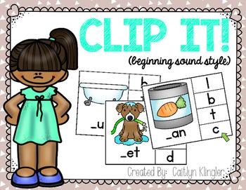 Clip It! {Beginning Sound Style}