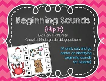 Clip It: Beginning Sounds (Animals)