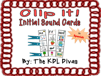 Clip It! Initial Sound Cards in Spanish