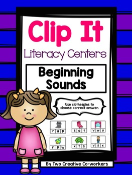 Beginning Sounds {Clip It Literacy Center}