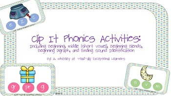 Clip It: Phonics Activities