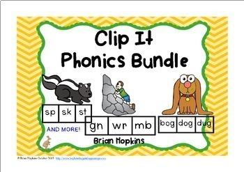Clip It Phonics Bundle