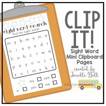 Clip It! Sight Word Practice