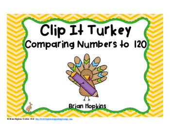 Clip It Thanksgiving Comparing Numbers to 120