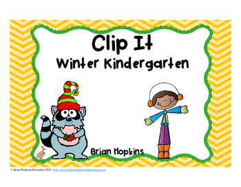 Clip It Winter Kindergarten Math Task Cards