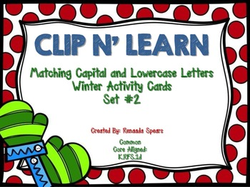Clip N' Learn Winter Activity Cards Set #2