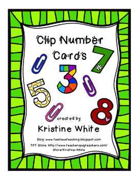 Clip Number Cards #presidentsdaydeals