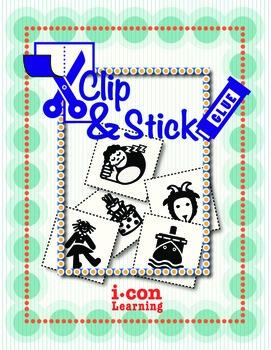 Clip & Stick 4 Letter Words - Pac 2