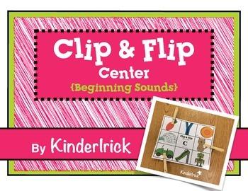 Clip and Flip Beginning Sounds Center