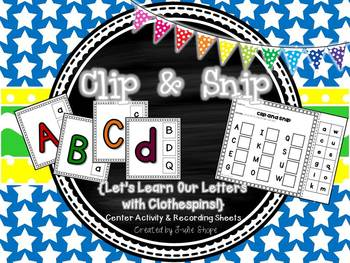 Clip and Snip {Let's Learn Our Letters with Clothespins!}