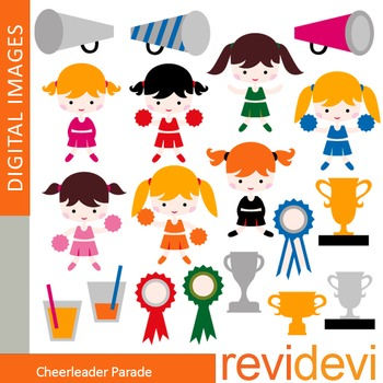 Clip art Cheerleader Parade (girls, trophy) clipart for te