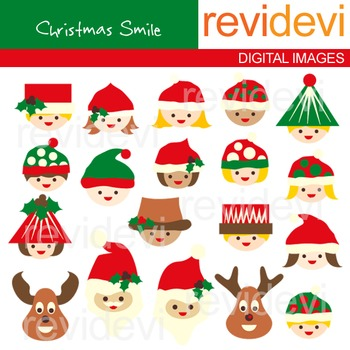 Christmas clip art: kids (boys and girls), reindeer