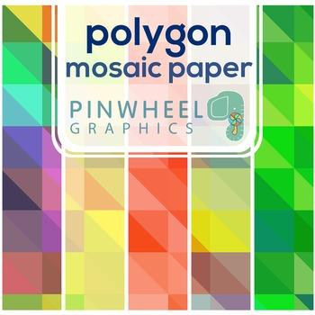 Clip art Digital Paper-Polygon Modern Mosaic Background