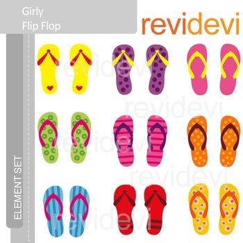 Summer clip art - Girly Flip Flop
