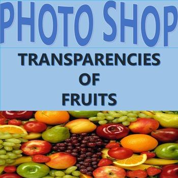 Clip art: Photographs of Fruit, Transparencies