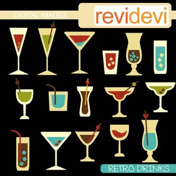 Clip art Retro Drinks