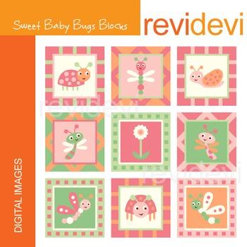 Clip art Sweet Baby Bugs Blocks 07201