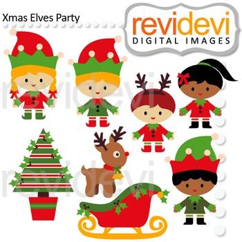Christmas clip art: xmas elves