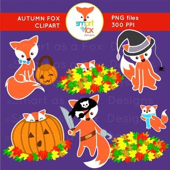 Clip Art Autumn Fall Animal Fox Halloween Activities