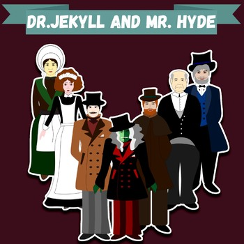"""Clip-art """"Dr. Jekyll and Mr. Hyde"""""""
