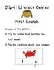 Clip-it Literacy Center: First Sounds