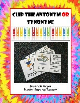 Clip the Antonym OR Synonym