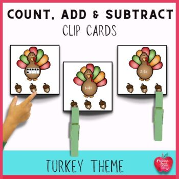Clip the Turkey Differentiated Math Center Task Cards