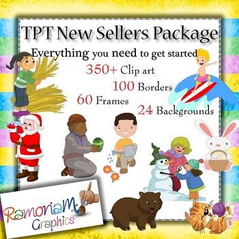 TPT Seller Clip art Starters Pack