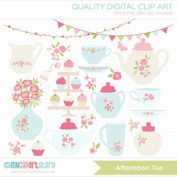 Clipart - Afternoon Tea / Rose Tea Set