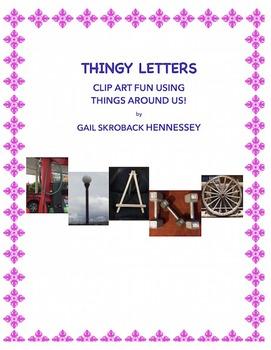 Clipart: Alphabet(THINGY LETTERS!) BLACK/WHITE OPTION