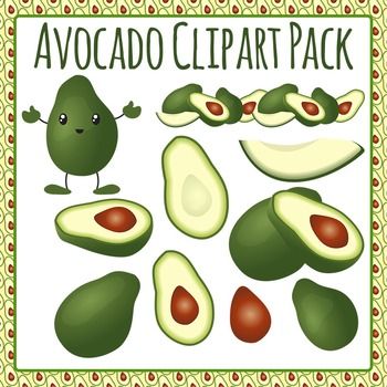 Avocado Clip Art Pack for Commercial Use
