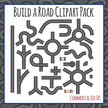 Build a Road Clip Art Pack for Commercial Use