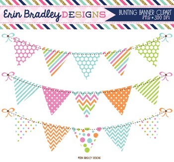 Clipart - Bunting Banner Flags