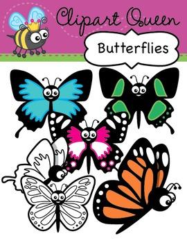 Clipart: Butterflies