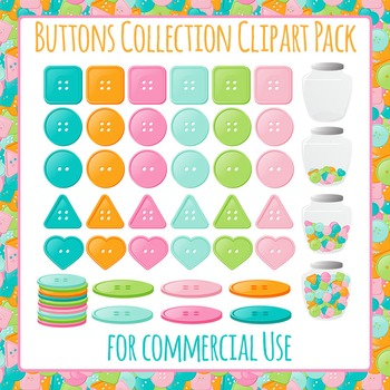 Button Collection Clip Art Pack for Commercial Use