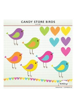 Clipart - Candy Store Birds