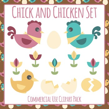 Chickens Clip Art Pack for Commercial Use